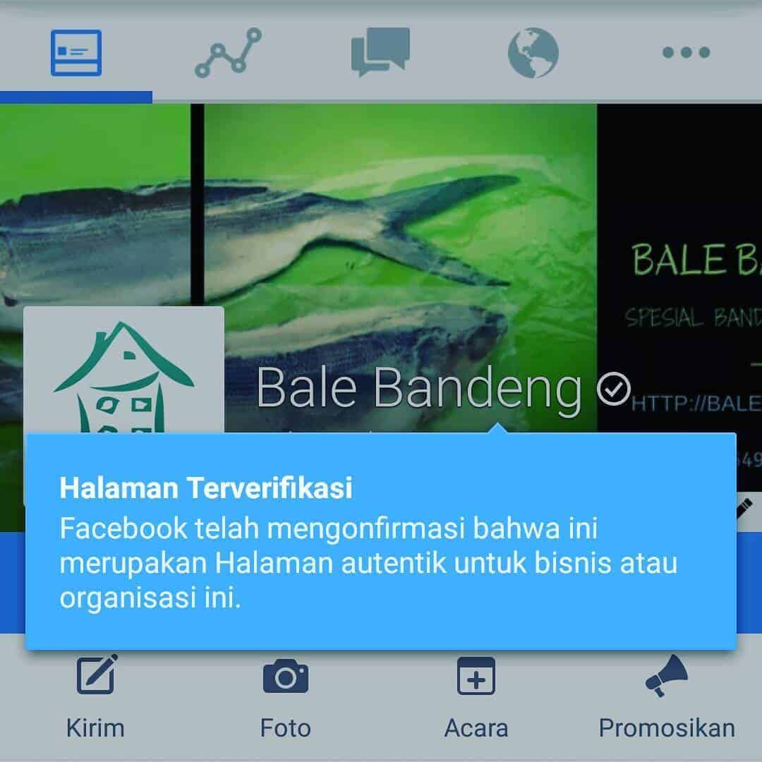 Membuat Verified Facebook Page Bale Bandeng